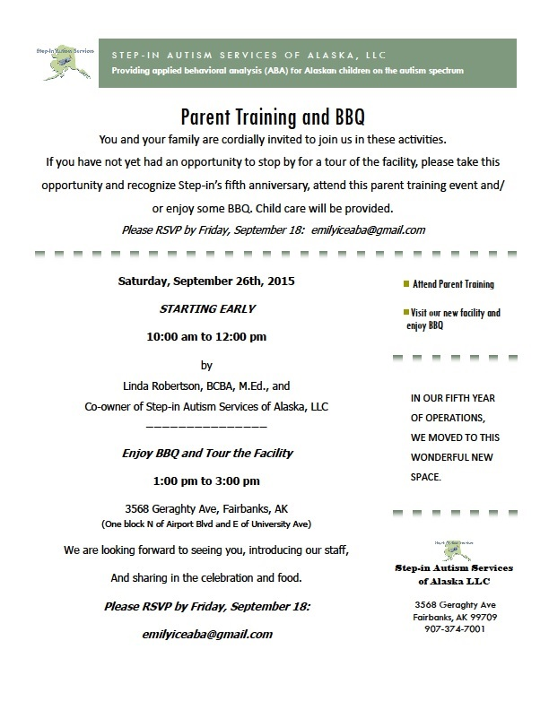 Parent Training BBQ